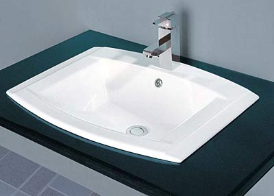 Self Rimmed Bathroom Sink