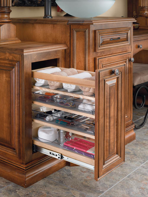 Storage kitchen design renovation - Bathroom cabinet organizers pull out ...