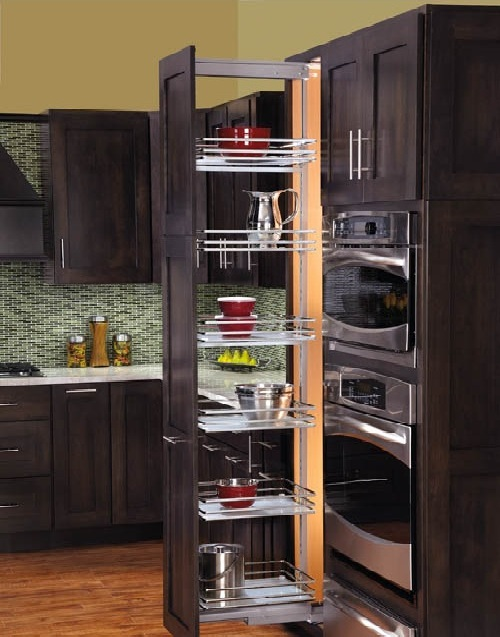 Roll Out Pantry Cabinet With RevAShelf: Kitchen And Bathroom Organization!  Kitchen Design With Pantry